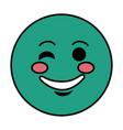 happy emoticon face character icon vector image