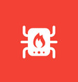heating system icon vector image