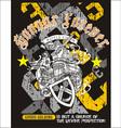 heraldry grunge shirt design vector image
