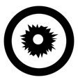 hole from shot icon black color in circle round vector image