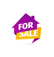 house for sale icon selling apartments vector image vector image