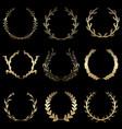 laurel wreathes set vector image vector image