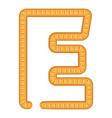 letter e bread icon cartoon style vector image