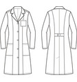 medical gown vector image vector image