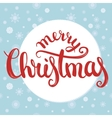 Merry christmas brush lettering with snowflakes vector image vector image