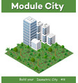 modern 3d city isometric vector image vector image