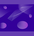 modern abstract geometric shapes in purple space vector image