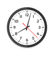 modern white clock icon single isolated vector image vector image