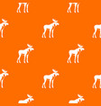 moose pattern seamless vector image vector image