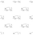 one line pig design silhouette pattern backgrounds vector image vector image
