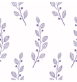 Outline seamless pattern background with branch vector image vector image
