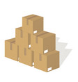 packing boxes vector image vector image
