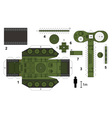 Paper model of an old tank vector image vector image