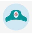 Pirate iconcaptain hat Flat design
