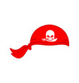 pirates red bandana cap isolated hat buccaneer vector image