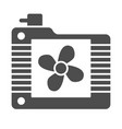 radiator fan solid icon cooler vector image vector image