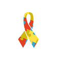 ribbon from color pieces puzzle - logo for design vector image vector image
