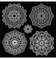 Round lace pattern set Mandala vector image vector image