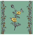 seamless floral pattern flower vector image vector image