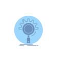 seo search optimization process setting glyph icon vector image vector image
