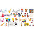 set music instrument vector image vector image