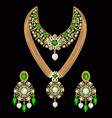 Set necklace and earrings wedding female