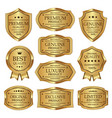 set of gold quality label vintages design vector image vector image