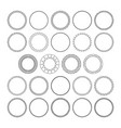 set of round decorative patterns framework vector image