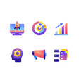 set startup icons vector image