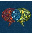 Social media speech bubble interaction vector image vector image
