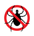 stop ticks sign prohibitory symbol template vector image vector image