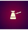 The turk icon Coffee symbol Flat vector image vector image