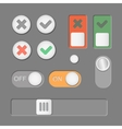 toggle switch icons on dark background vector image
