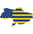 usa and ukraine mixed flag vector image vector image