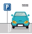 vehicle parking zone design vector image vector image