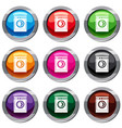 washing machine set 9 collection vector image vector image