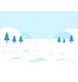 winter landscape snow and snowdrift background vector image vector image