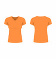 womens orange t shirt vector image vector image