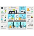 Workplace Interior Poster vector image vector image