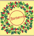 wreath of barberry vector image vector image
