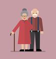 Elderly senior age couple vector image