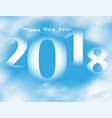 word happy new year 20178 on blue sky with clouds vector image