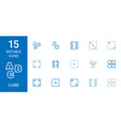 15 cube icons vector image vector image