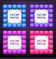 abstract creative square jewelry frames consisting vector image vector image