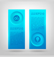 abstract infographic vertical banners vector image