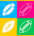 american simple football ball four styles of icon vector image vector image