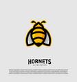 bee logo design hornets logo template icon symbol vector image