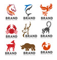 best animal logo collection on white background vector image vector image