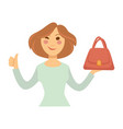 blogger girl or vlogger woman character vector image