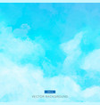 blue watercolor clouds and sky background vector image vector image